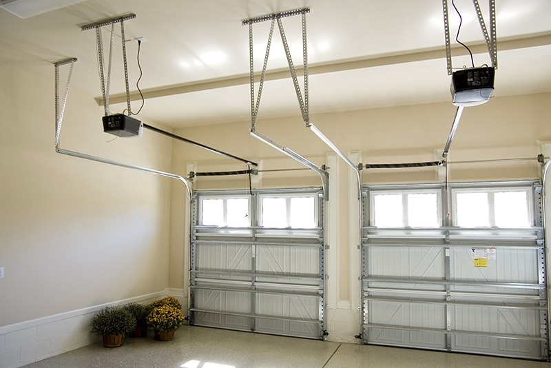 Residential house garage interior