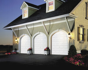 triple white garage