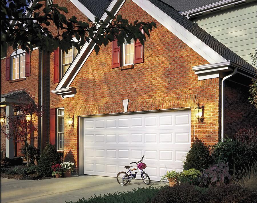 white white garage door