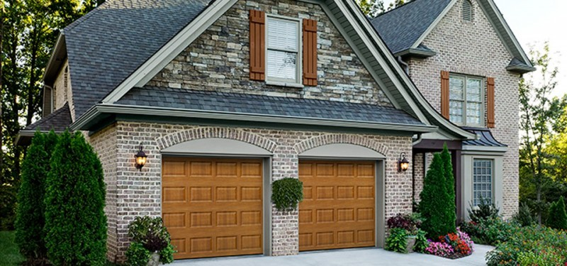 A Clopay Wood Garage Door in Denver Colorado