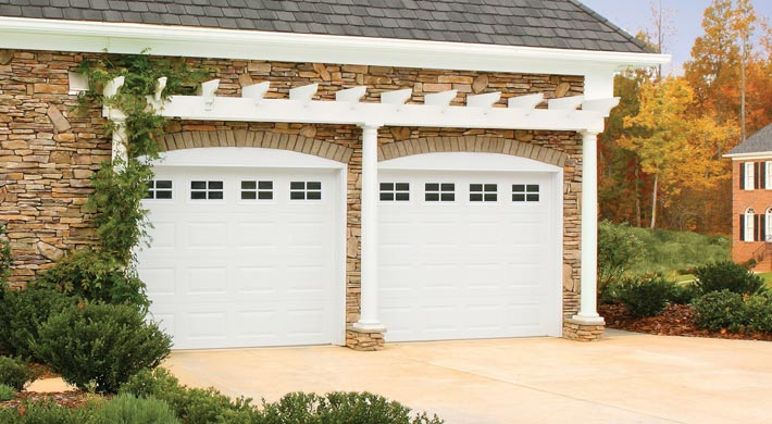 size window double pin with door garage inserts design