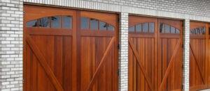 custom-made wooden garage door