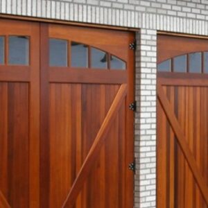 custom-made wooden garage door