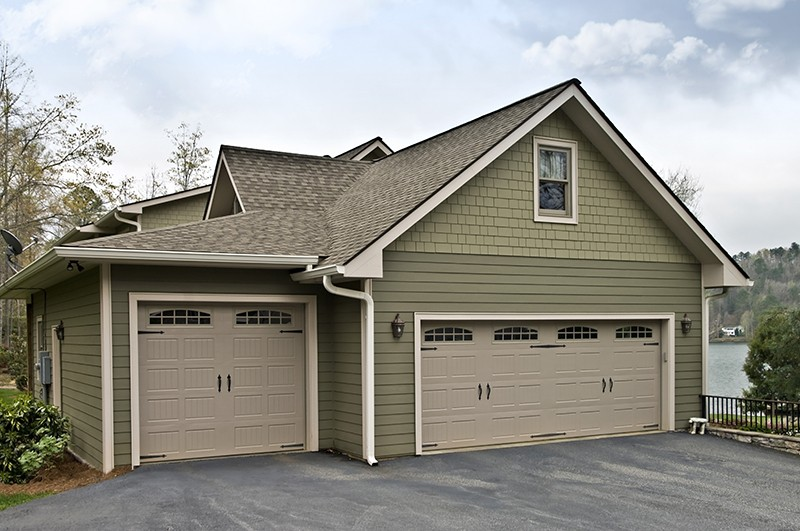 Garage Doors on a House