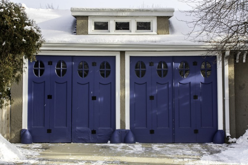 garage doors in winter. Denver's Garage Door Company
