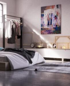 garage space as extra bedroom