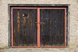 Garage door maintenance.