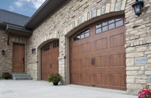 A custom garage door that doesn't compromise style for security.